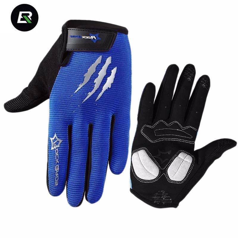RockBros Touchscreen Cycling <font><b>Gloves</b></font> Men Women Shockproof Breathable Full Finger Bicycle Bike <font><b>Gloves</b></font> Sports MTB <font><b>Gloves</b></font> Gants Velo
