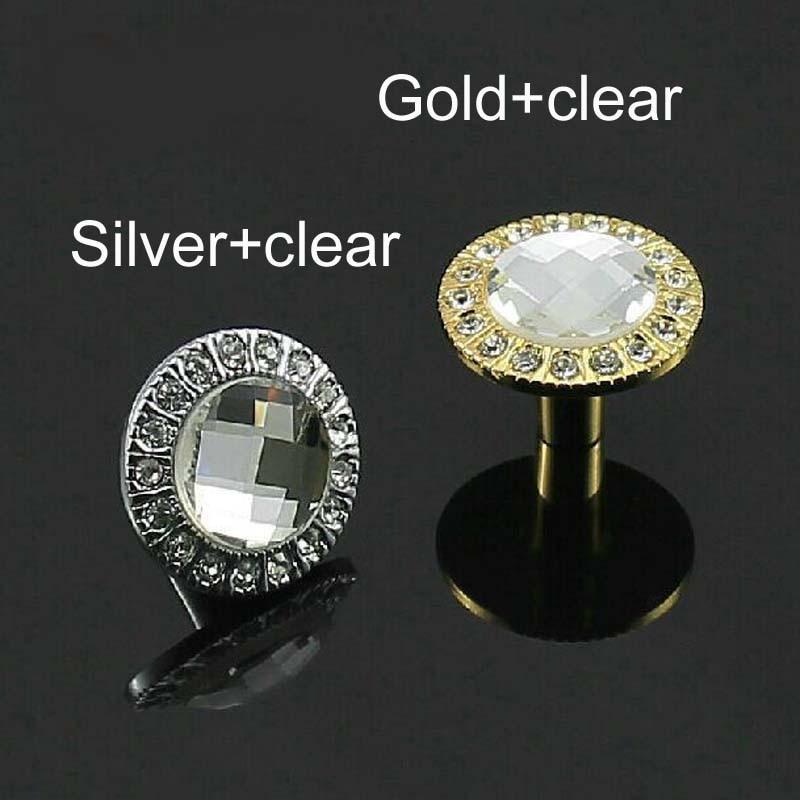 glass kitchen Cabinet knob crystal drawer pull silver gold  Zinc Alloy Dresser cupboard Wardrobe Funrinture handle pull Knob