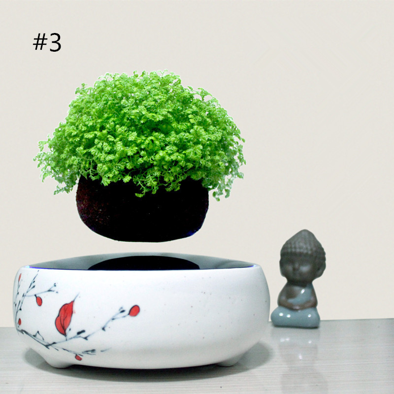 2016 high tech product magnetic levitation air bonsai (no plant)Suspension  flower pot pottedplant levitate tubs 002 free shiping-in Flower Pots &