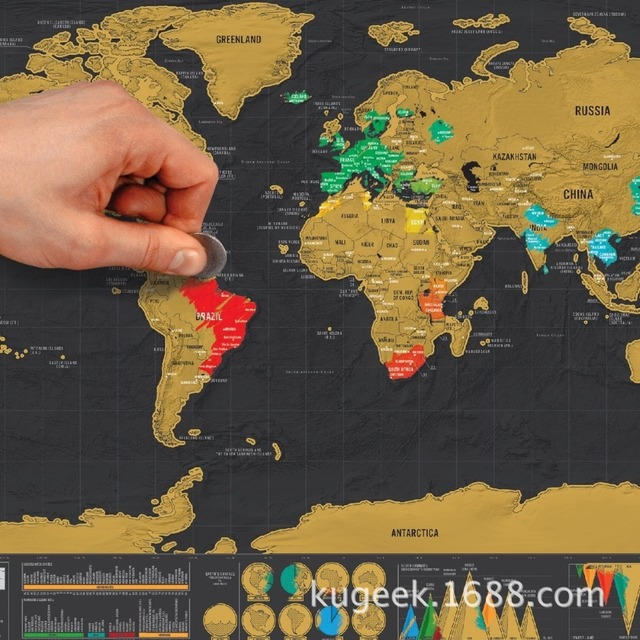 New hot deluxe scratch map 1piece black mapa creative scratch off new hot deluxe scratch map 1piece black mapa creative scratch off map travel scratch world map gumiabroncs Choice Image
