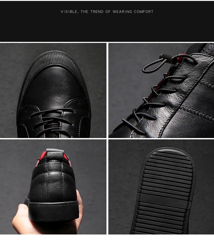 Mens casual schoenen leer echt koe Topkwaliteit Designer Fashion - Herenschoenen - Foto 6