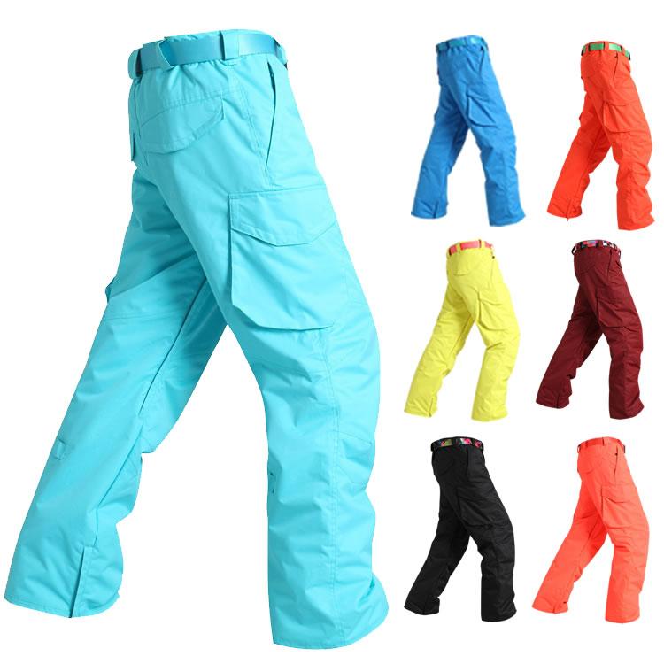Pantalons de ski pour hommes pantalons d'escalade skateboarding pantalons de sports de plein air d'hiver imperméable 10 K coupe-vent thermique pantalon de ski pour hommes