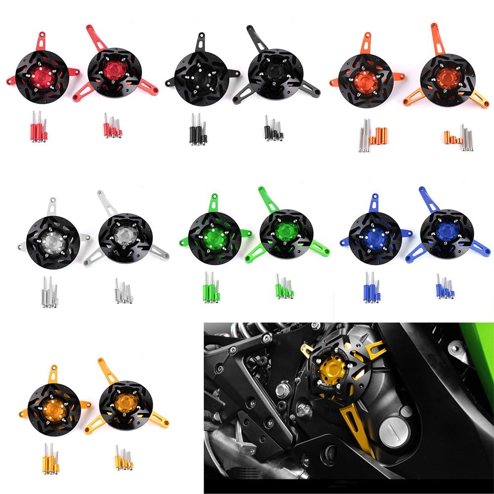 Для Kawasaki устройство v650 Versys650 2015-2016 CNC Алюминиевый мотоцикл двигателя статора Крышка двигателя Защитная Крышка левый правый Крышка предохранителя