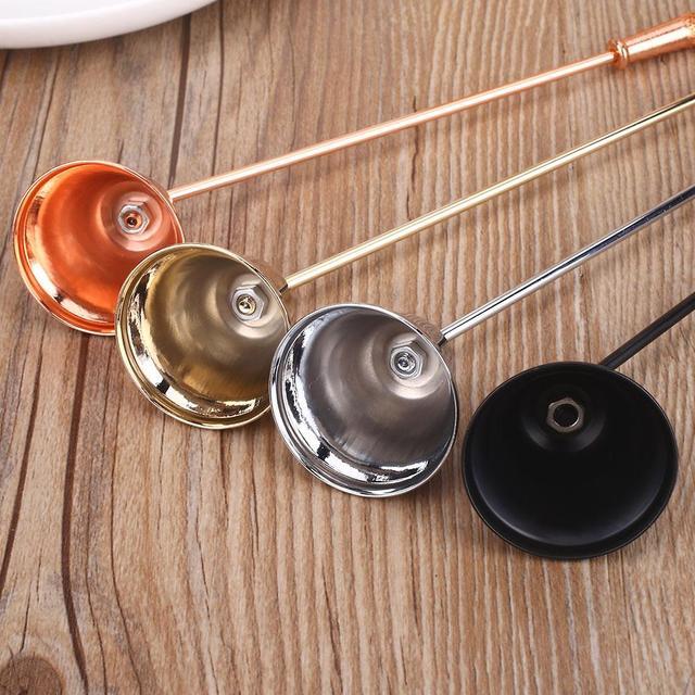 Conveniente extintor de velas, vela cómoda, vela de acero inoxidable con forma de campana Noble, vela plateada/oro rosa/oro/Arte Africano