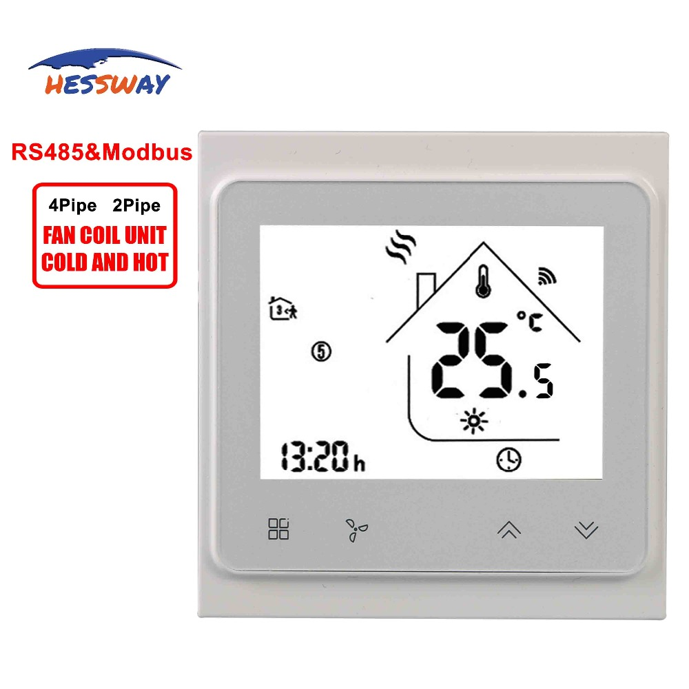 HESSWAY 2pipe Cool Heat 0-10V Proportional Signal RS485&modbus Thermostat For Remote Adjustment Central Air Conditioning