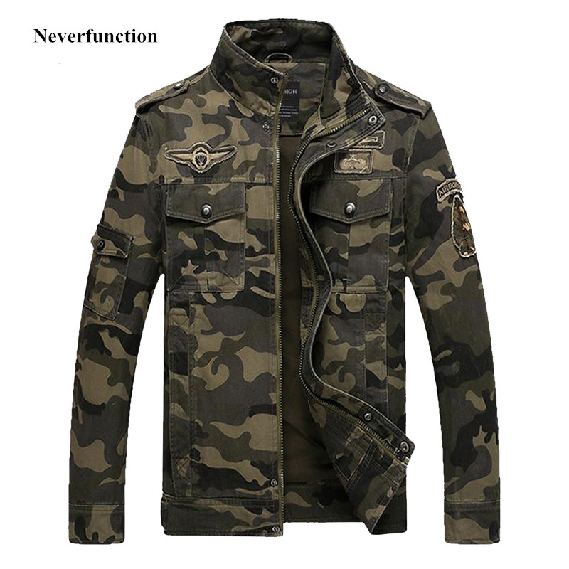 High quality men Camouflage jackets army green military Cargo jacket fashion coat outwear Tactical clothing bomber Jackets