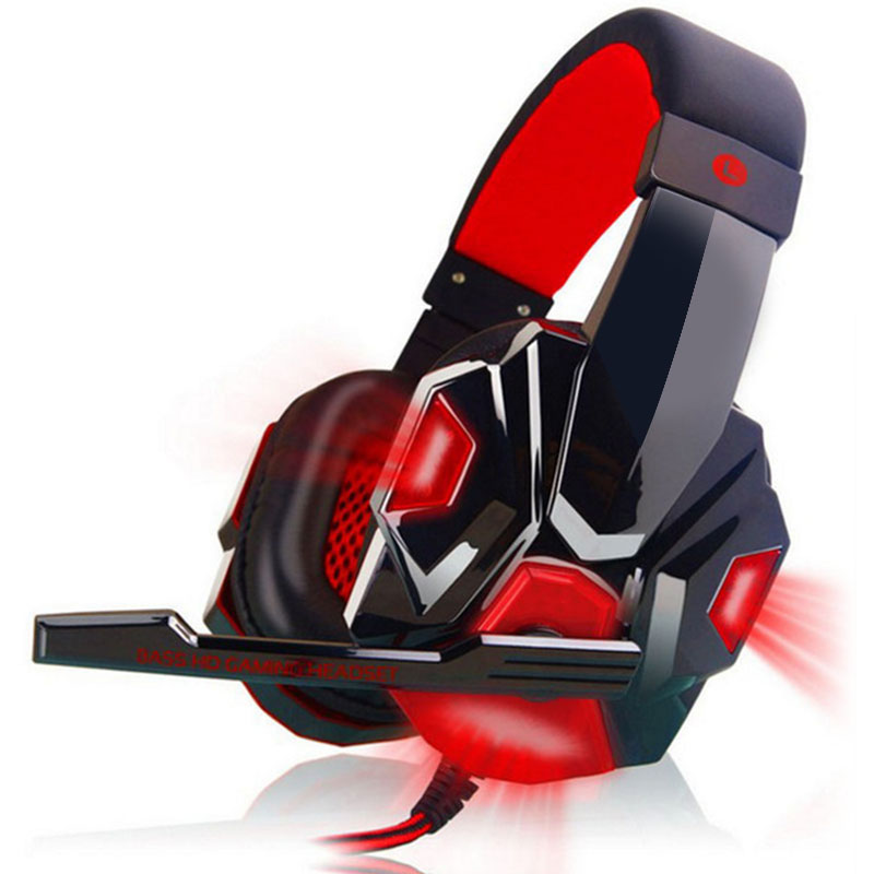 Stereo Gaming Headset PC Computer Headphones with Over-Ear noise cancelling video Gamer headphone LED glowing with mic casque oneodio stereo gaming headset for phone pc computer headphones with mic over ear noise cancelling for pc ps4 xbox mobile