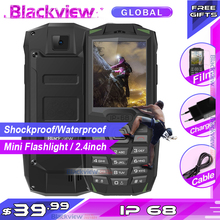 Blackview BV1000 IP68 smartphone עמיד למים עמיד הלם מחוספס נייד 3000mAh מיני פנס