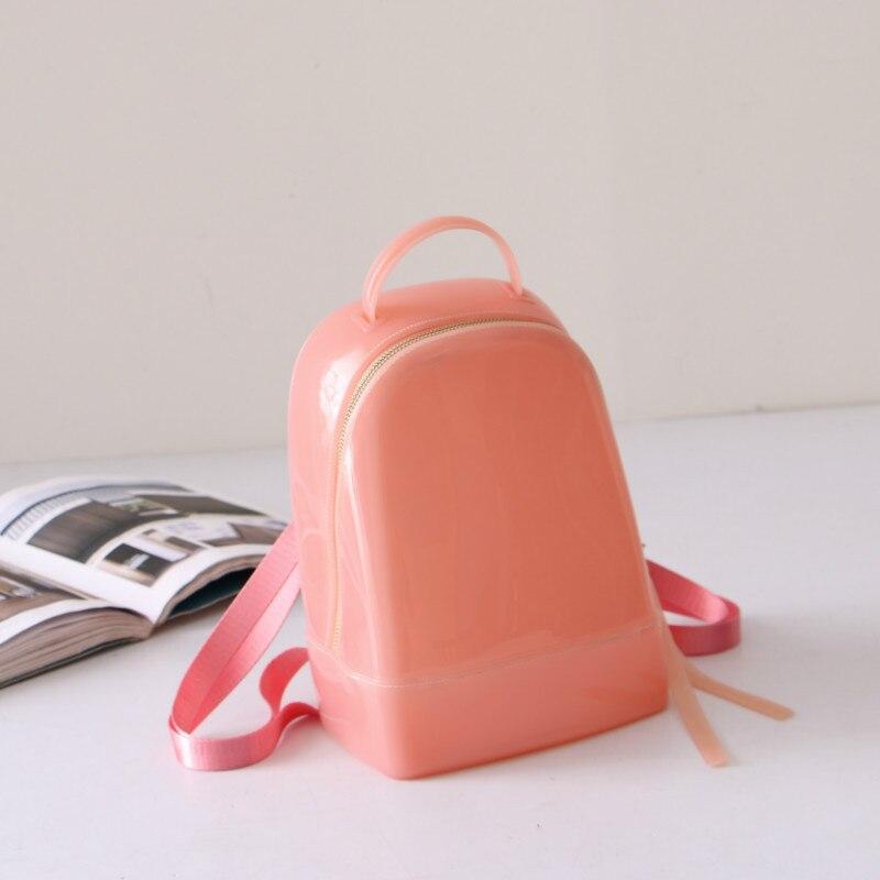 2018 Cute Women Jelly Backpack Female School Bag Brand Designer Luxury  Rucksack Summer Beach Knapsack for Teenage Girls New-in Backpacks from  Luggage   Bags ... 4c38b2ee8c5c1