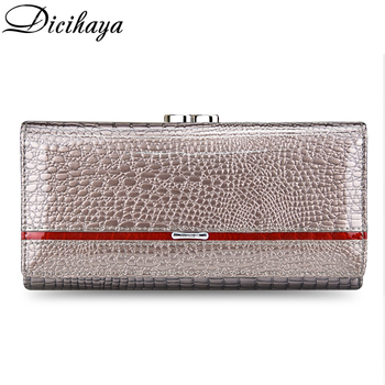 DICIHAYA Alligator Zipper Clutch