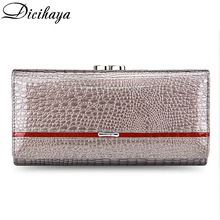 DICIHAYA Marke 2020 Echtem Leder Frauen Geldbörsen Alligator Lange Haspe Zipper Wallet Damen Clutch Tasche Geldbörse Weibliche Luxus Geldbörsen