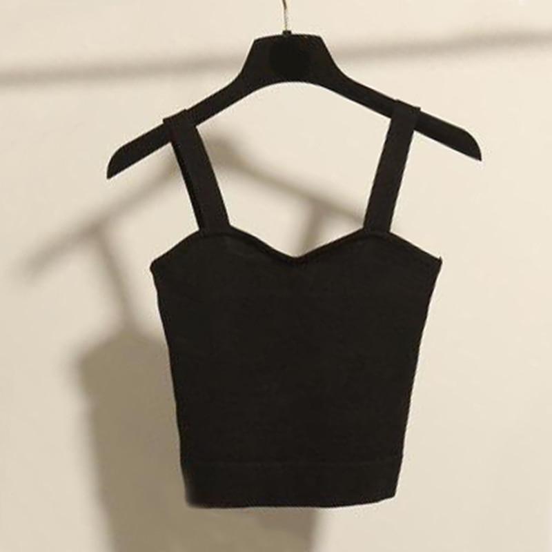 2018 Summer Sexy Slim Knit Short Tank Top Women Sleeveless U Collar Crop Top Backless Tank Tops Black White Grey Casual Crop Top