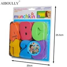 36 шт. MunchkinS детская головоломка детские игрушки EVA Ванна алфавитно-цифровые буквы номера ванная вода игрушки Ранние развивающая детская игрушка