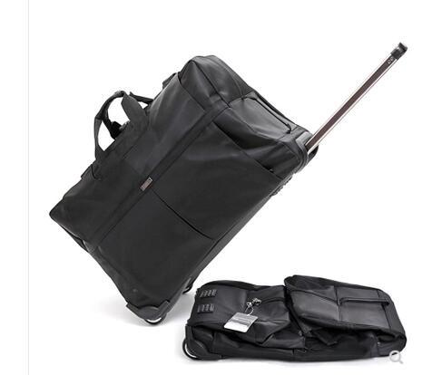 da343cbb25d5 24 дюймов путешествия чемодан с выдвижной ручкой сумки для мужчин  Путешествия Тележка Сумки на колесах для