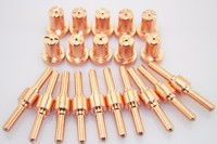 100pcs Consumables Extended Long Tips And Long Electrode PT 31 For 40A 50A Air Plasma Cutter