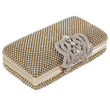 Dazzling Rhinestone Encrusted Evening bag Clutch Bolsa Festa Nupcial do baile de Finalistas(China)