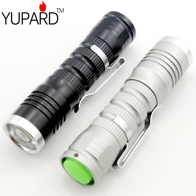 YUPARD Focusable Q5 LED Flashlight 1Modes Waterproof 500LM Zoomable AA 14500 rechargeable battery camping outdoor sport meco q5 500lm multicolor zoomable mini led flashlight 14500 aa