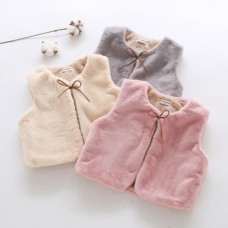 Coat Jacket Wear Collar Winter Imitation-Fur Round Children's