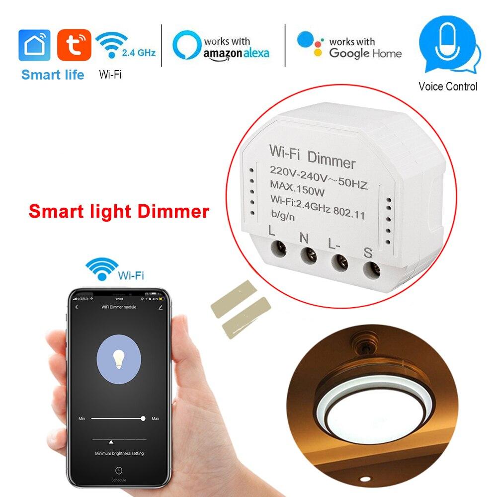 Vie intelligente Wifi gradateur intelligent 240V 150W lumière LED triac module minuterie commutateur contrôleur commande vocale travailler avec Alexa Google IFTTT