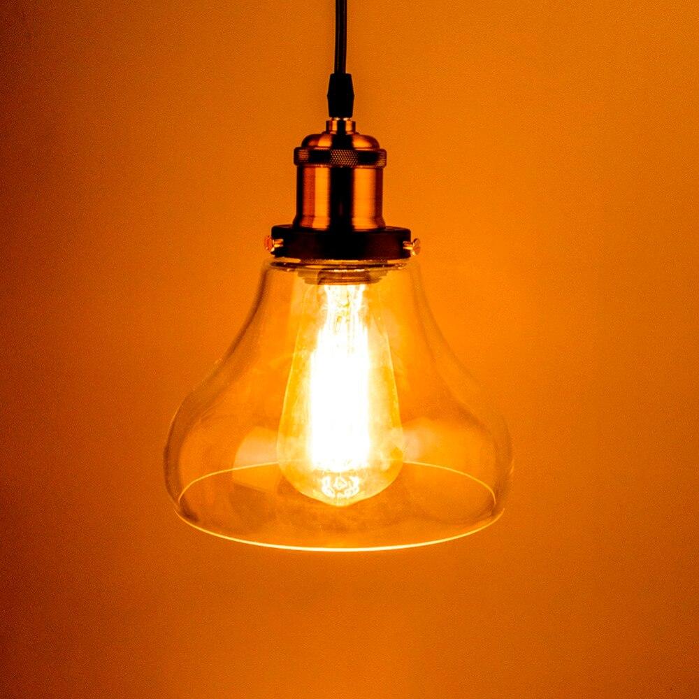popular decorative glass lamp shades buy cheap decorative glass retro vintage pendant lights clear glass lamp shade loft pendant lamps e27 110v 220v for dining