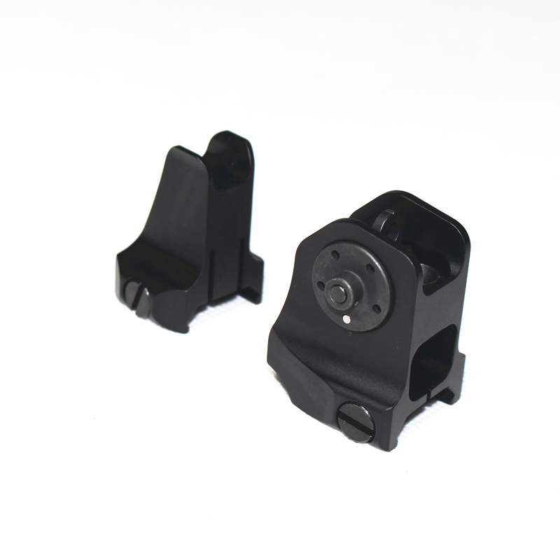 Image 2 - Tactical Fixed Front Rear Sight Streamline Design Standard AR15 Apertures Iron Sights Hunting Airsoft Accessories-in Paintball Accessories from Sports & Entertainment