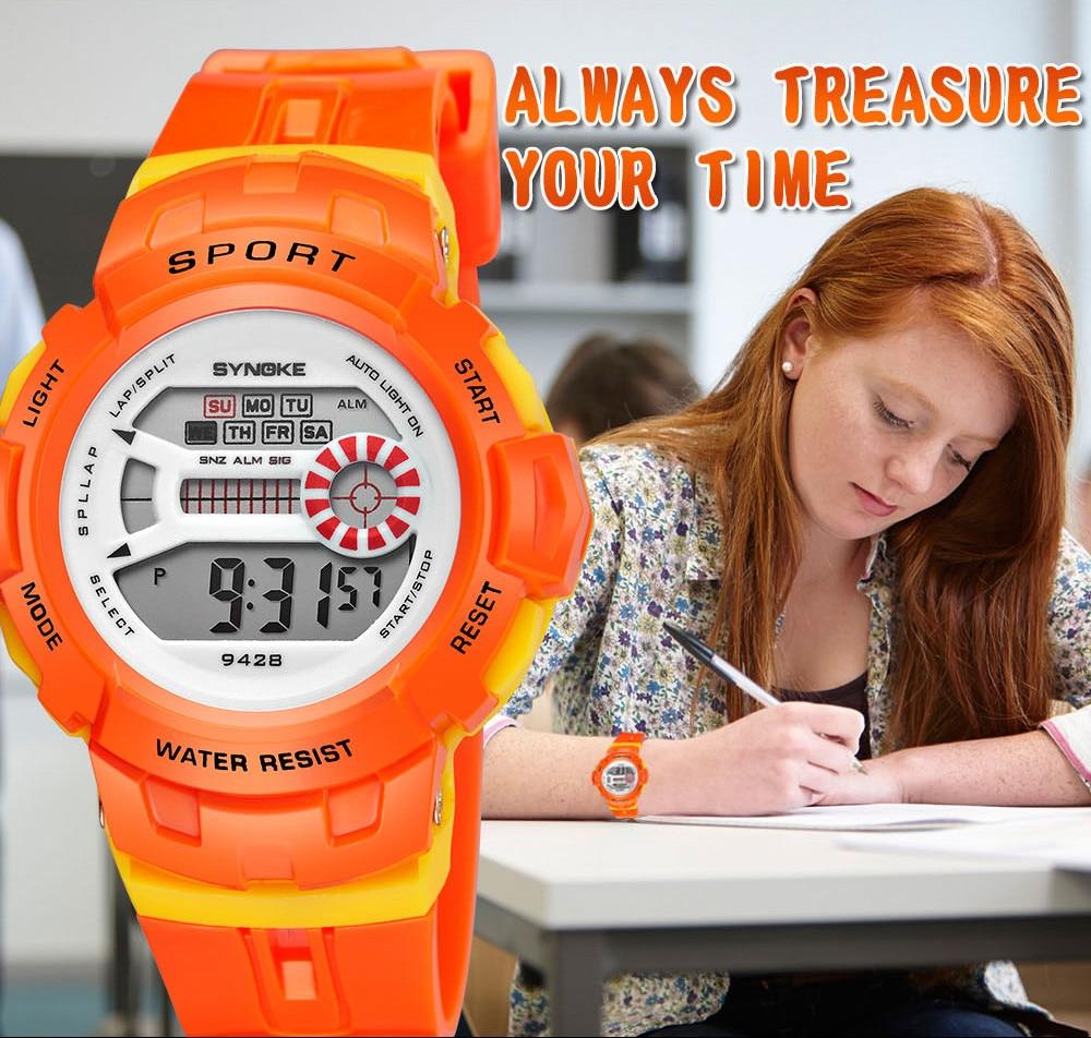 Analytisch Kinder Multi-funktion 30 Mt Wasserdichte Uhr Led Digital Double Action Uhr Armband Enfant Garcon Junge Uhren Wasserdicht Ungleiche Leistung Kinderuhren