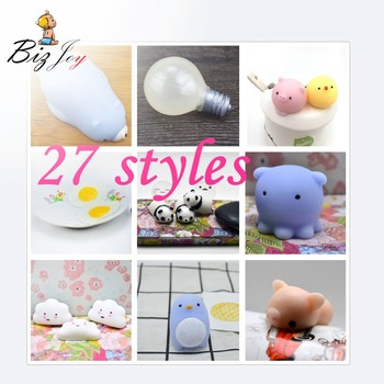 Squishy Antistress Mochi Kawaii Animals Soft Slow Rising Squeeze Squishys Kids Toy Press Anti-Anxiety Healing Fun kids Adult Toy image