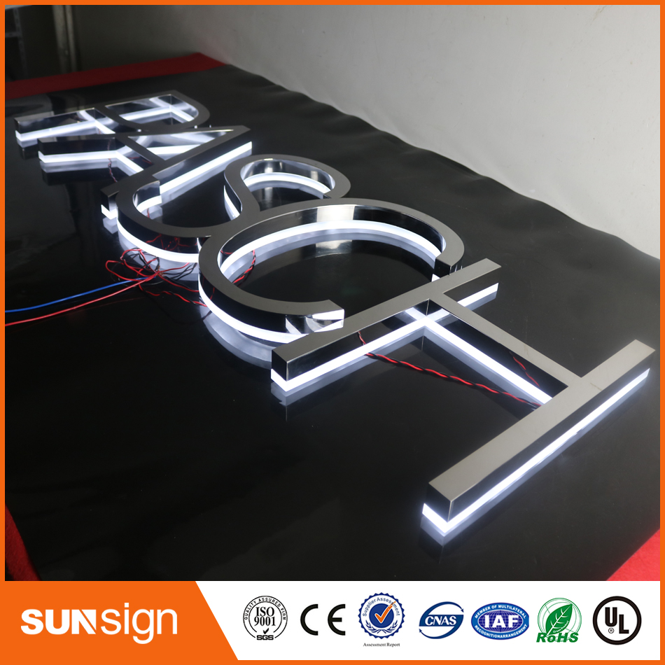 Wholesale Stainless Steel Letters Shell Led Backlit Letters