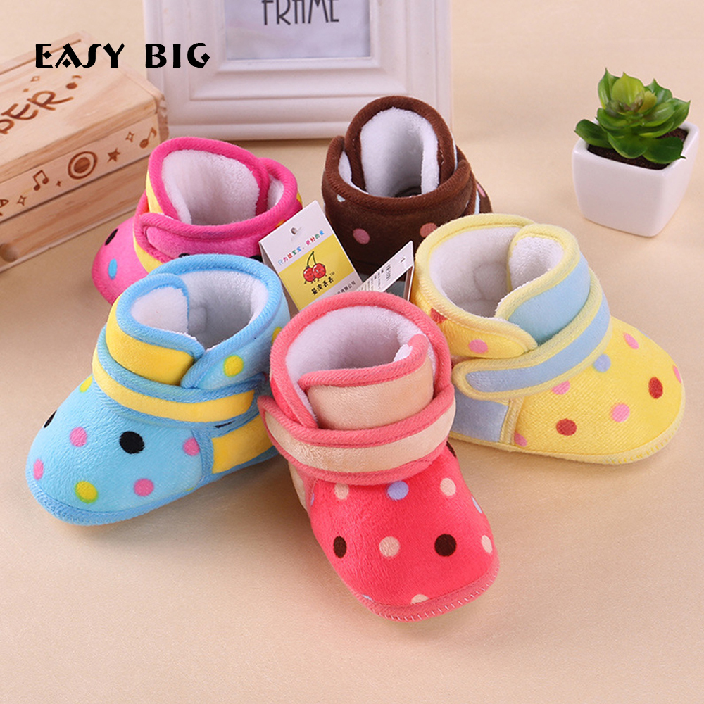 EASY BIG Anti-slip Thermal Baby First Walker Baby Shoes Baby Moccasins Newborn Shoes Soft Infants Shoes Sneakers