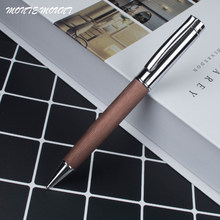 1 pçs/lote caneta esferográfica de tinta de Caneta Esferográfica de Madeira 0.7mm para escrever atacado Escritório Escrita Canetas