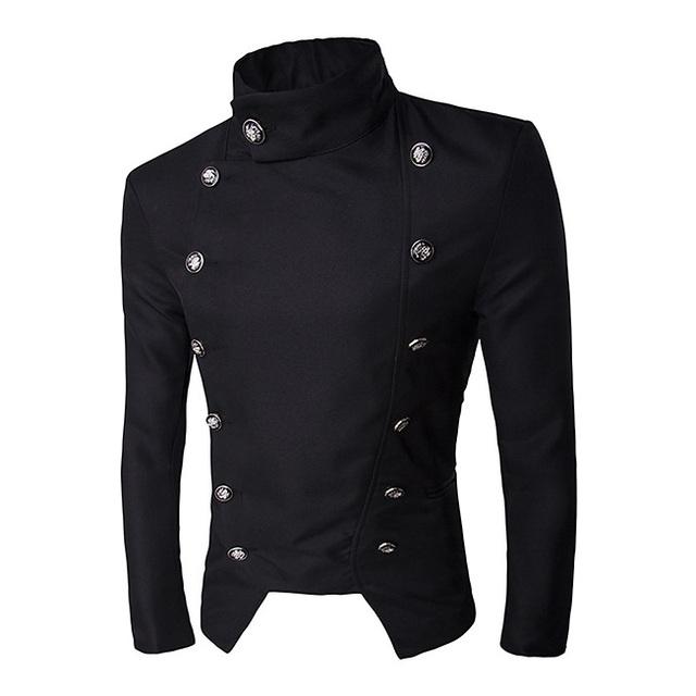 Nueva moda Estilo slim fit Hombres Traje Blazers Botón Cruzado de Algodón para Hombre Abrigos Chaquetas desgaste Del Banquete de boda