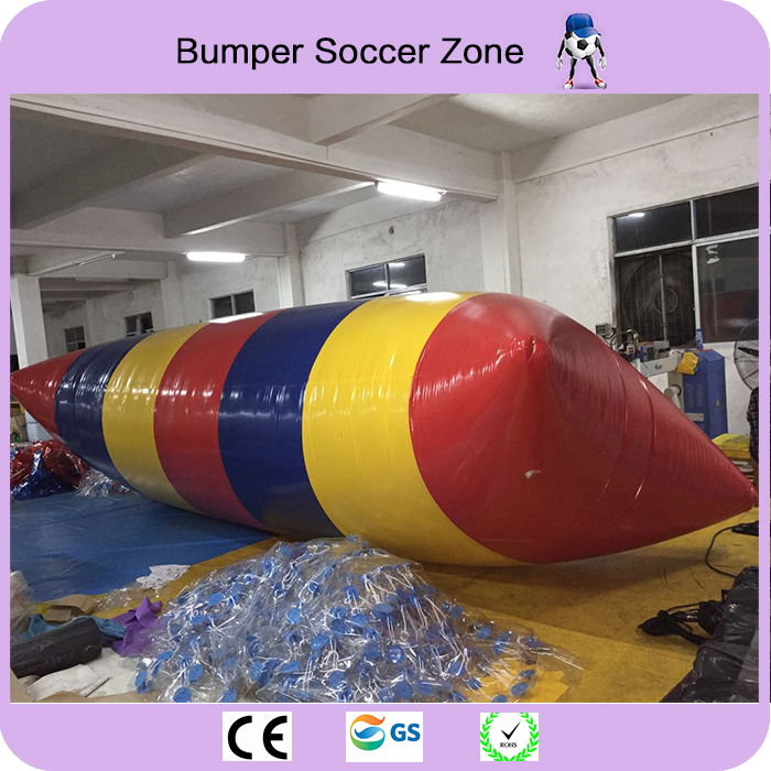 Free Shipping Cheaper Price 7*3m 0.9mm PVC Water Jumping Pillow Inflatable Water Trampoline Water Blob funny summer inflatable water games inflatable bounce water slide with stairs and blowers