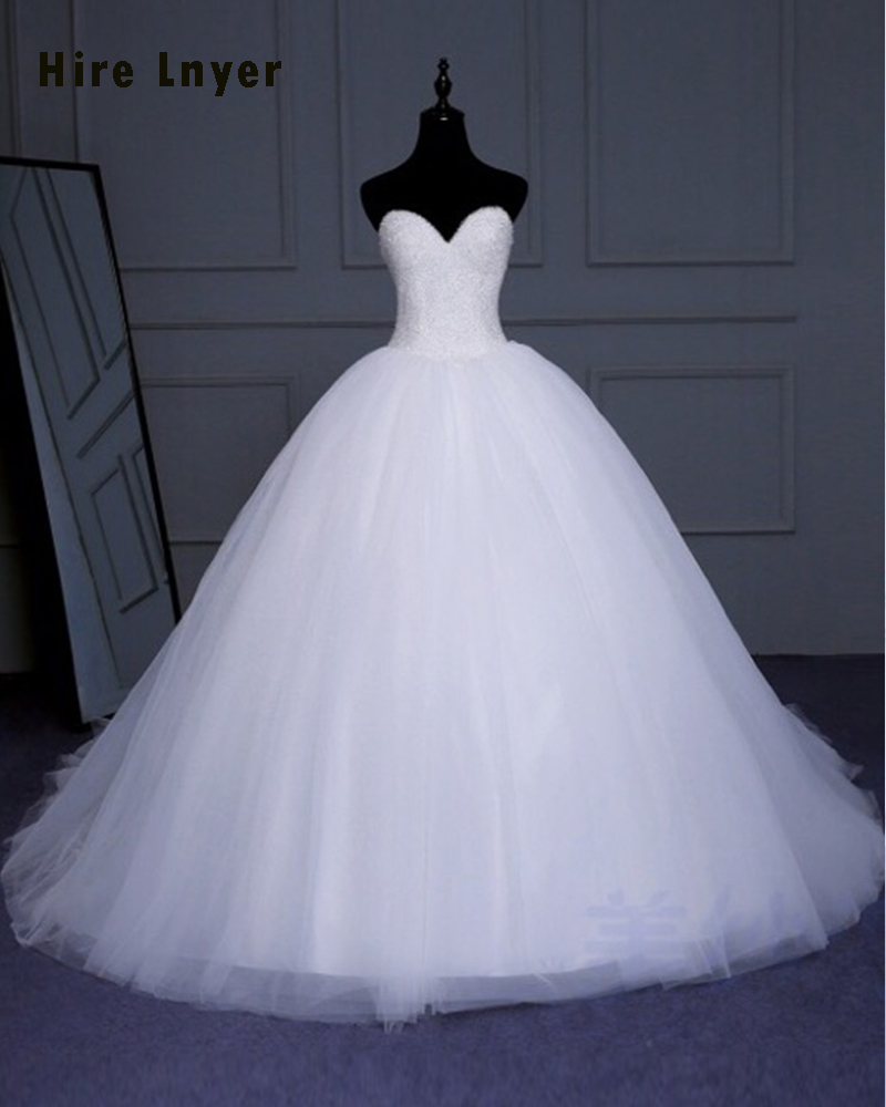 NAJOWPJG New Special Sweetheart Neck Lace Up Gorgeous Bridal Gowns ...