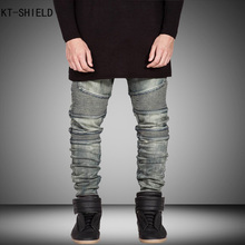 Skinny Jeans Men Ripped Jeans For Men Fashion Casual Slim Fit Biker Jeans Hip Hop Denim Overalls Men Motorcycle Jeans Masculino