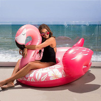 150*105cm Printing Inflatable Flamingo Swimming Ring For Adults Giant Water Sports Air Mattress Pool Floats Summer Toys