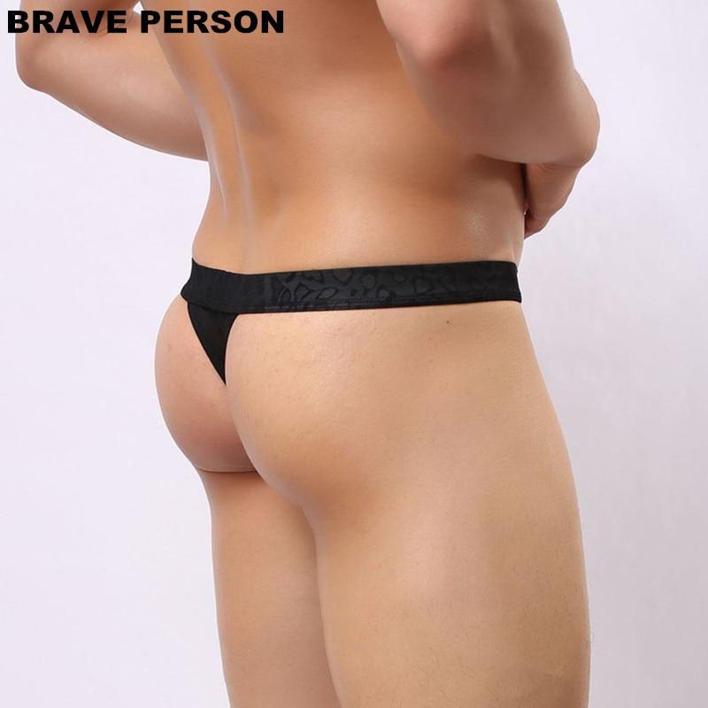 DRAAG PERSOON Mannen Sexy Lace Transparante Persoonlijke Slips Bikini - Ondergoed - Foto 5