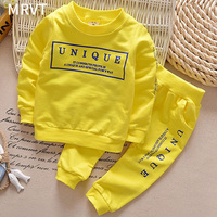 2016 New Arrival Boy Clothing Set Kids Sports Suit Children Tracksuit Girls Tshirt Pant Baby Sweatshirt