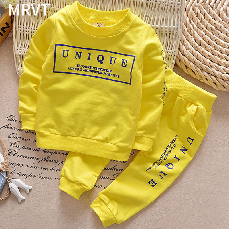 MRVT 2018 New Arrival Children Spring Autumn Set Unisex Girls Boys Clothing Set Kids Tracksuit 2Pcs Suit Long Sleeve Clothes 1 6y new arrival boy clothing set kids sports suit children tracksuit girls tshirt pant baby sweatshirt character casual clothes