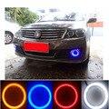 2 х 100 мм COB Angel Eye LED DRL Чип Автомобиль Мотоцикл Противотуманные фары Halo Кольца Водонепроницаемый Авто Лампы LED Освещение С абажуры