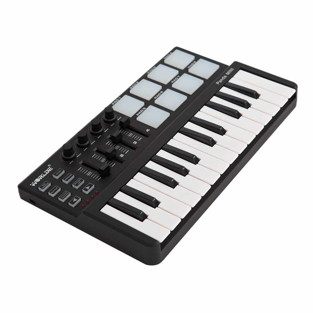 גבוהה באיכות Worlde פנדה מיני נייד מיני 25-מפתח USB מקלדת תוף Pad MIDI בקר מקצועי כלי נגינה