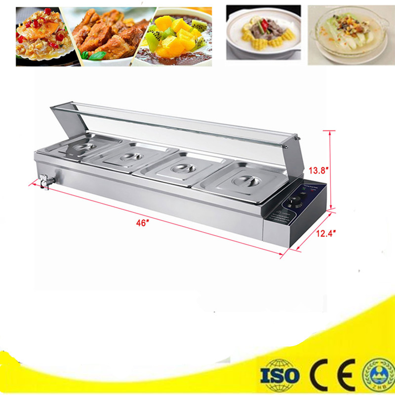 Stainless Steel Bain Marie Commercial Restaurant Hotel Food Warmer Container Kitchen Equipment Tool