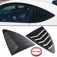 2Pcs Car Black Plastic Rear Louver Quarter Window Panel For Scion FRS for subaru BRZ for Toyota 86 GT86 2013 2018