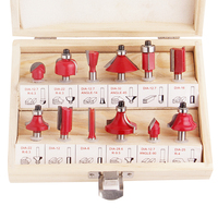 12pcs Milling Cutters 1 4 8mm 1 2 Shank Router Bit Set Carbide Wood Cutter For