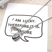 XKXLHJ 2019 New Walking Dead, Plate And Grenade Pendant Fashion Jewelry Necklace