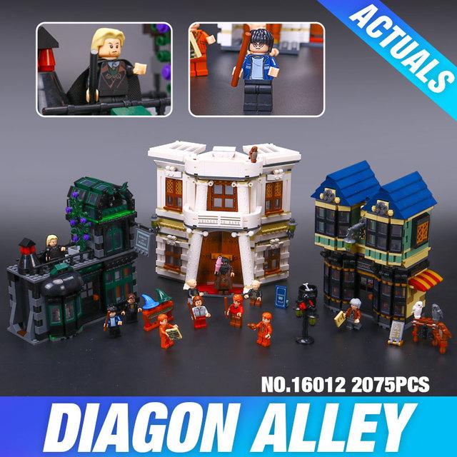 Lepin 16012 nuevo 2025 unids Serie Movie Regalo Divertido para el Niño El Callejón Diagon Set10217 Building Blocks Ladrillos Educativos LovelyToys