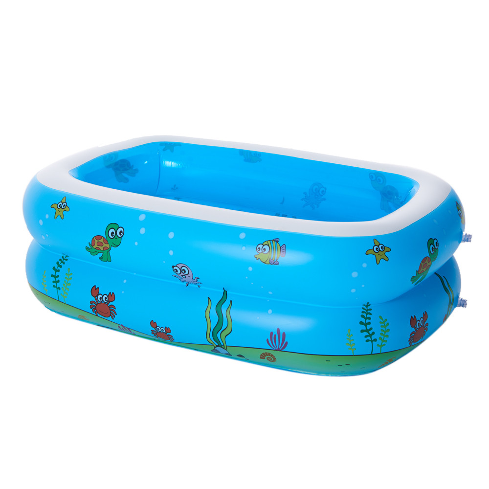 130*90*50CM pool Large Inflatable Swimming Pool Center Lounge Family Kids Water Play Fun Backyard Toy Swimming pools dual slide portable baby swimming pool pvc inflatable pool babies child eco friendly piscina transparent infant swimming pools