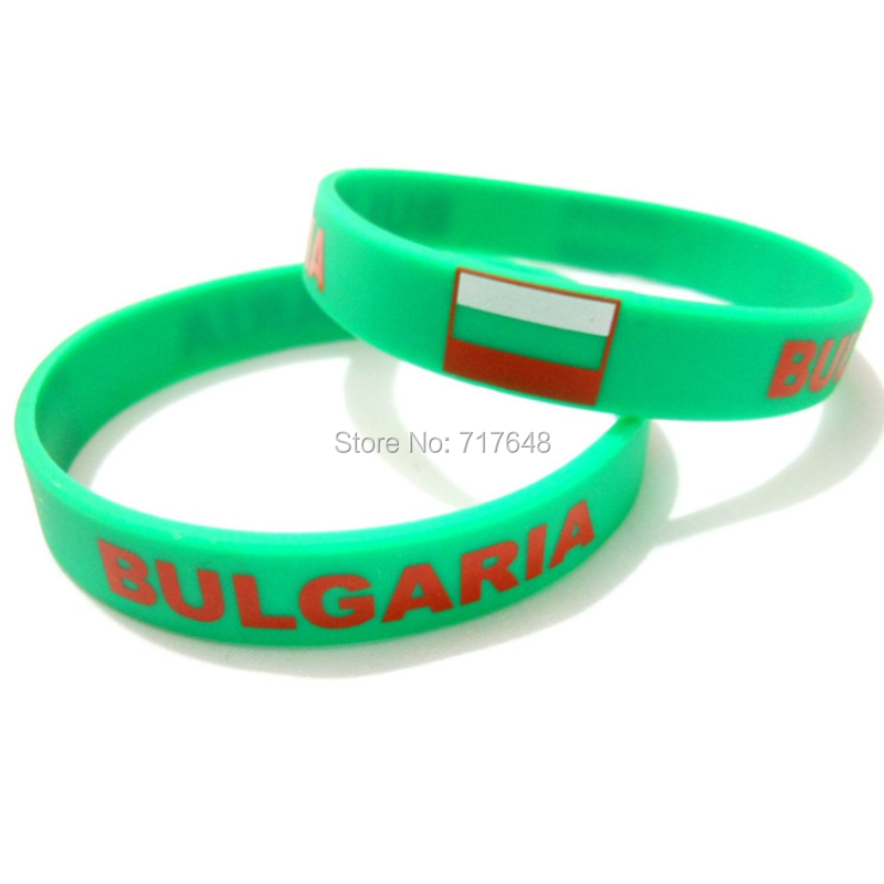100pcs Bulgaria wristband silicone bracelets free shipping by FEDEX-in Cuff Bracelets from Jewelry & Accessories    1