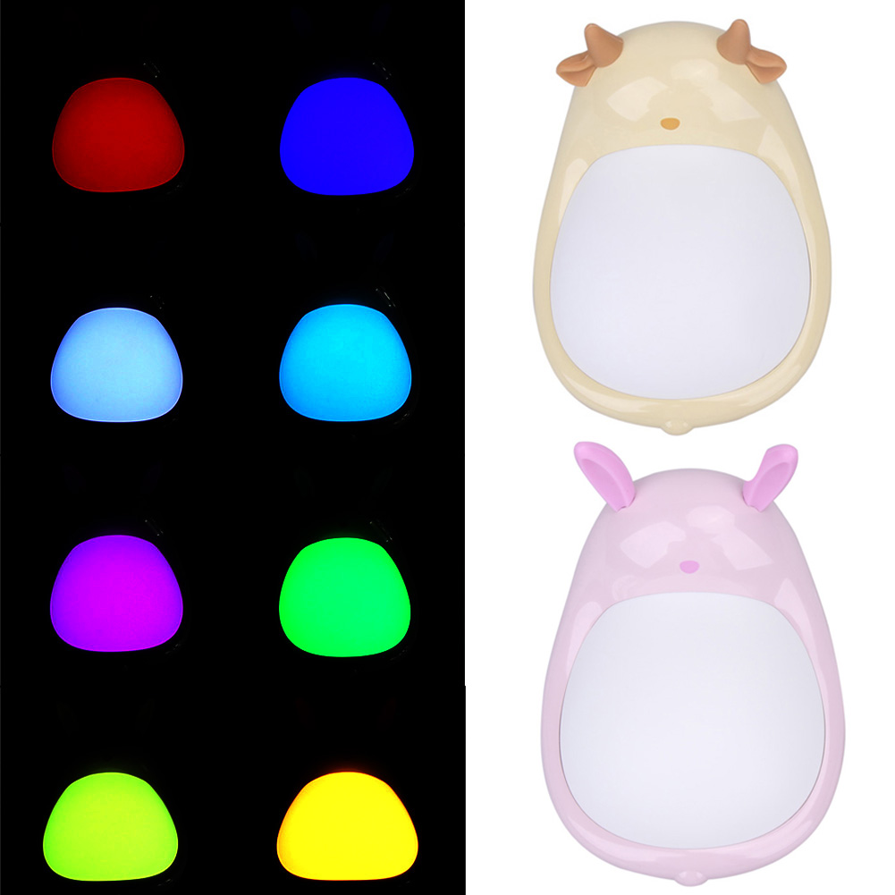 Led night light bathroom - Mini Cartoon Rgb Nightlight Electrodeless Led Nightlight Touch Colorful Bathroom Lamp High Quality Led Light Home Decor