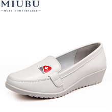 MIUBU Women Flats Shoes Genuine Leather Slip on Moccasin Shoes Ladies Boat Shoes Shallow Casual Loafers Nurse Flats Shoes все цены