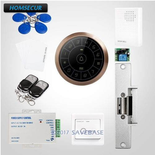 HOMSECUR IP67 Fully-Potted Waterproof Wiegand 26/34 RFID Access Control System Supporting Card Only, PIN Only, Card+PIN